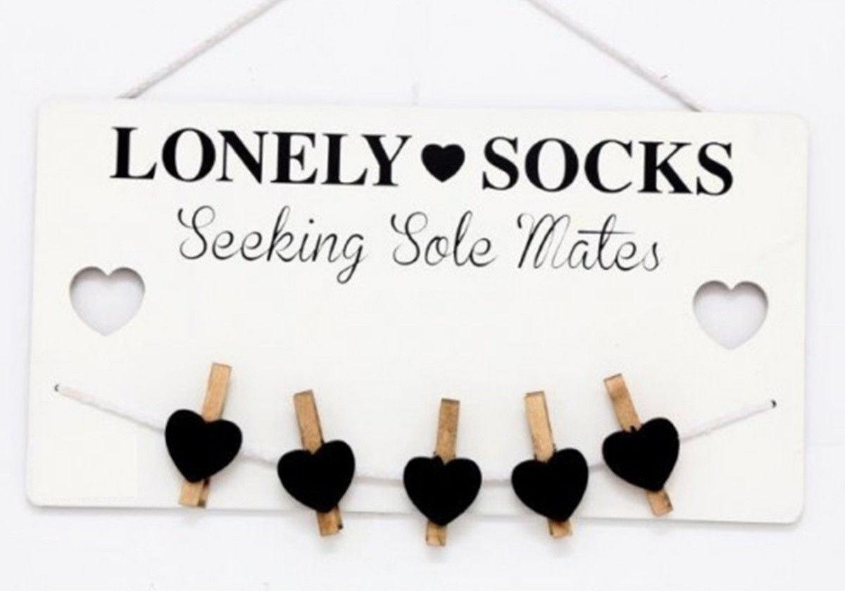 Lonely Sock Plaque