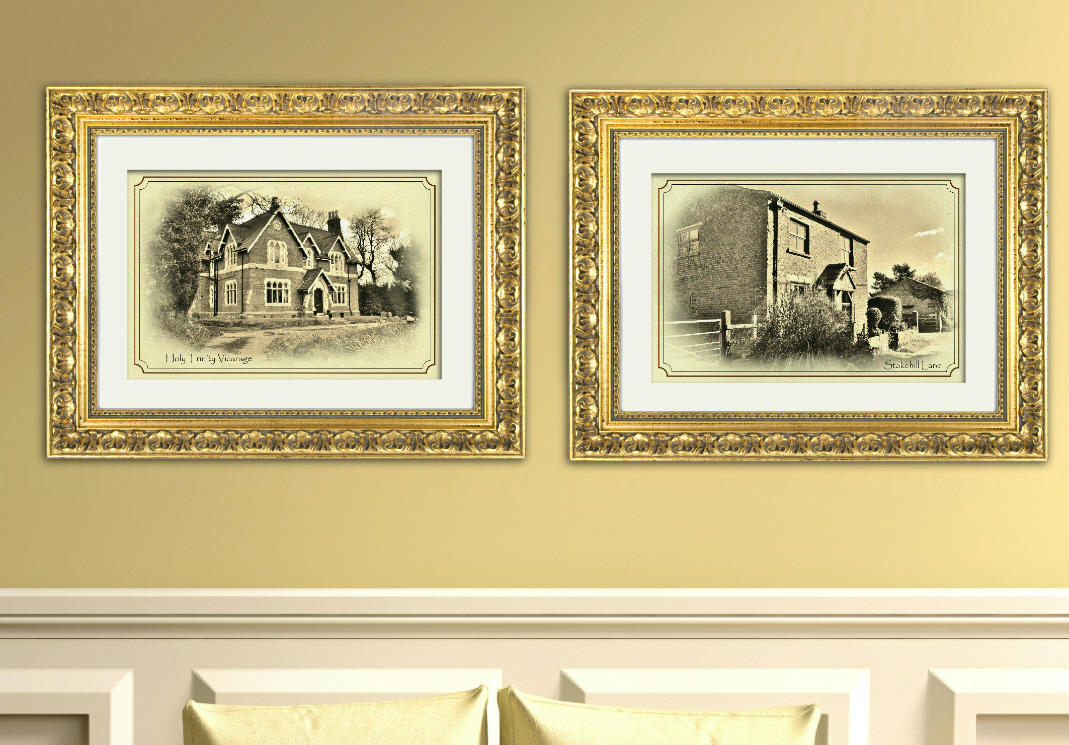 Contrasting Residences, set of two prints