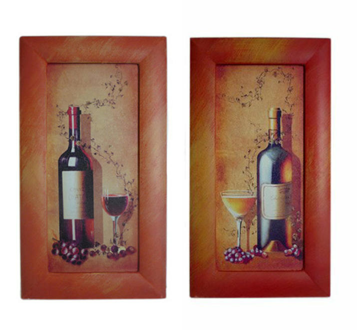Set of Two Wine Frame Art Pictures