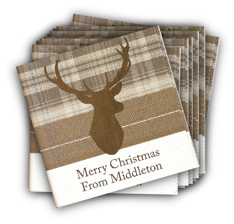 Highland Stag Christmas Card in Pack of Ten