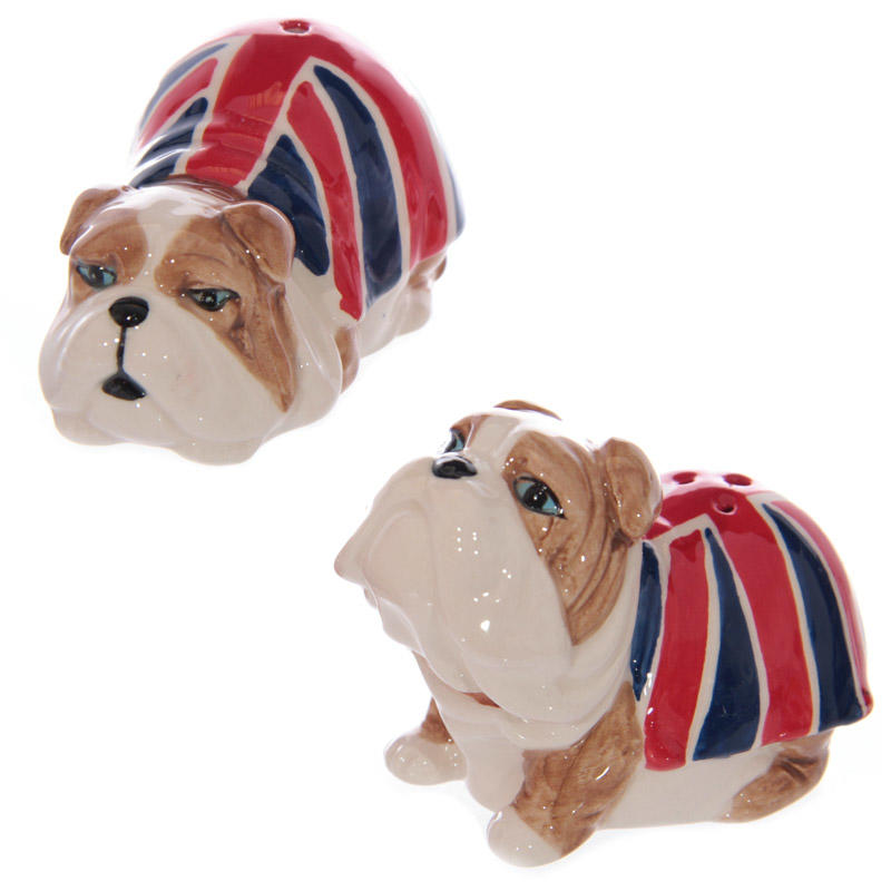 British Bulldog salt & pepper shakers