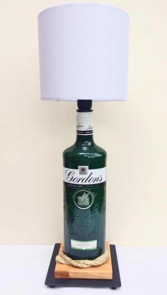 Gordon's Gin Table Lamp with white shade