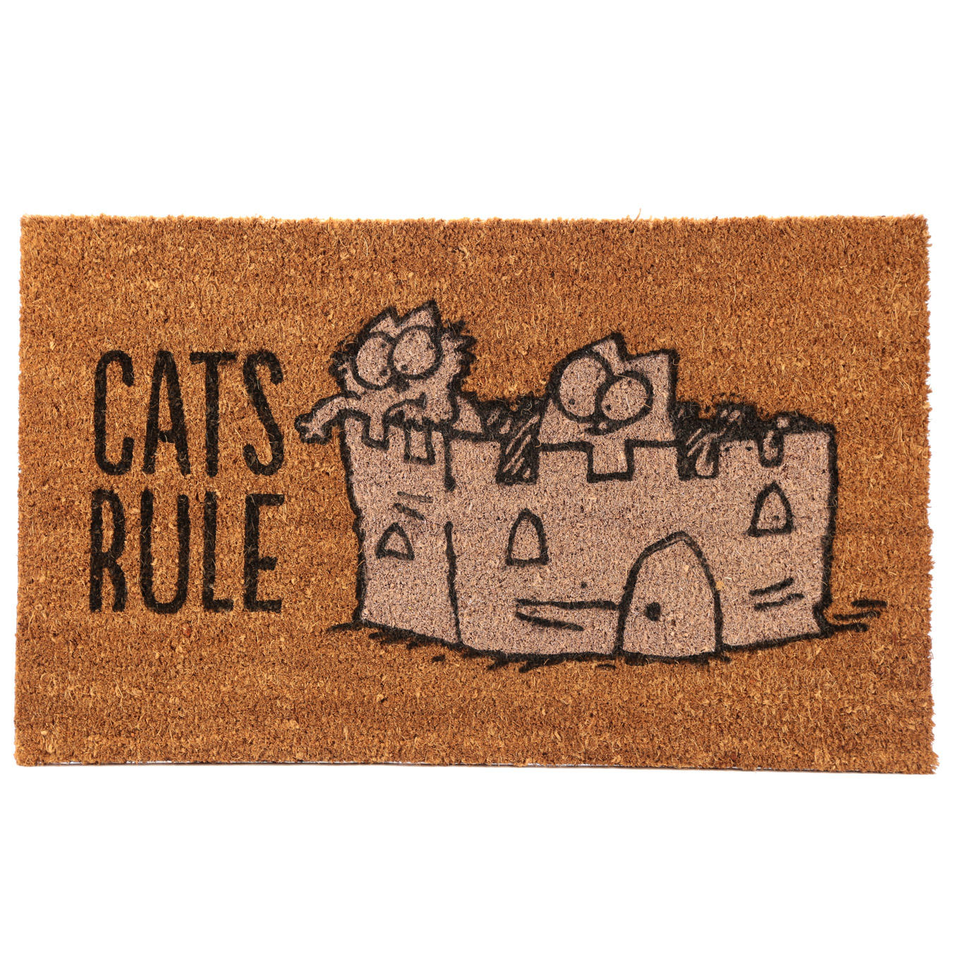 Simon's Cat Door Mat - Cats Rule