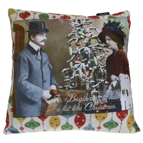 'It's Beginning To Look a Lot Like Christmas' cushion cover