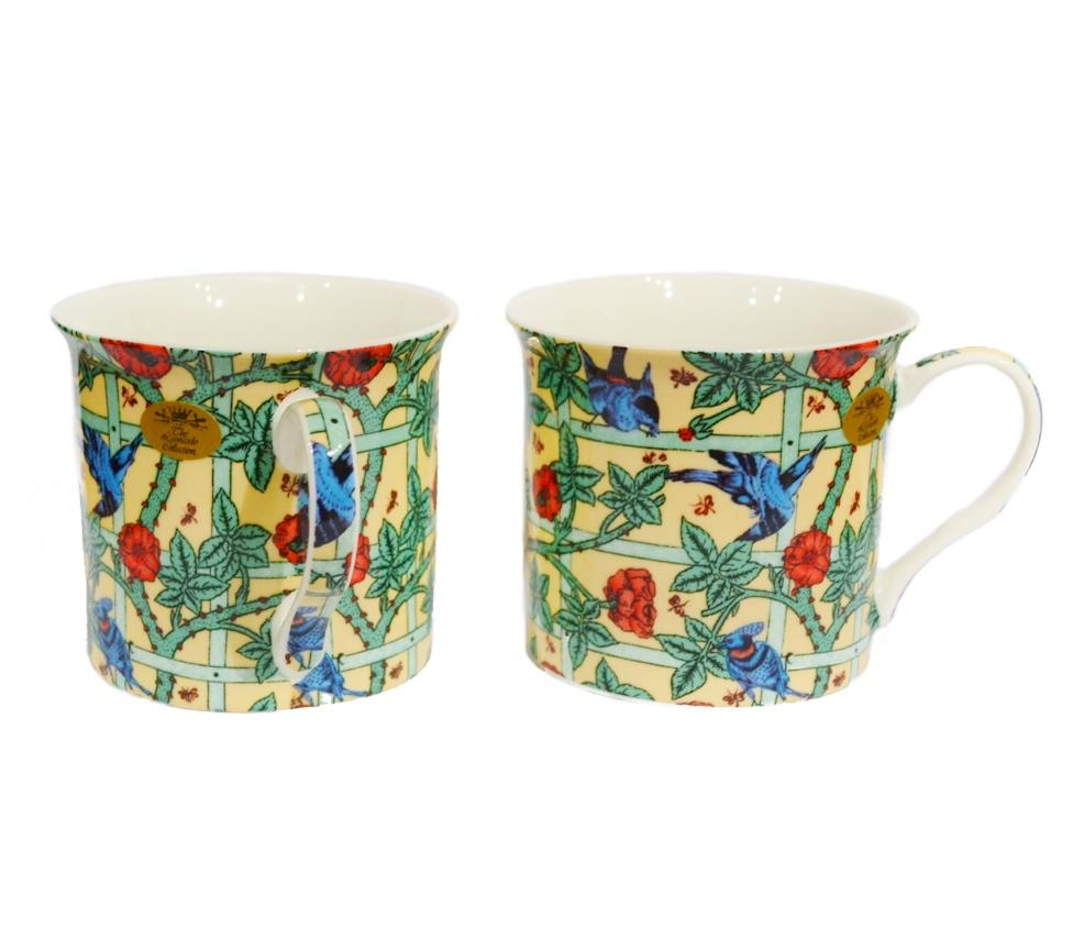 Pair of William Morris Fine China Cups - Cream