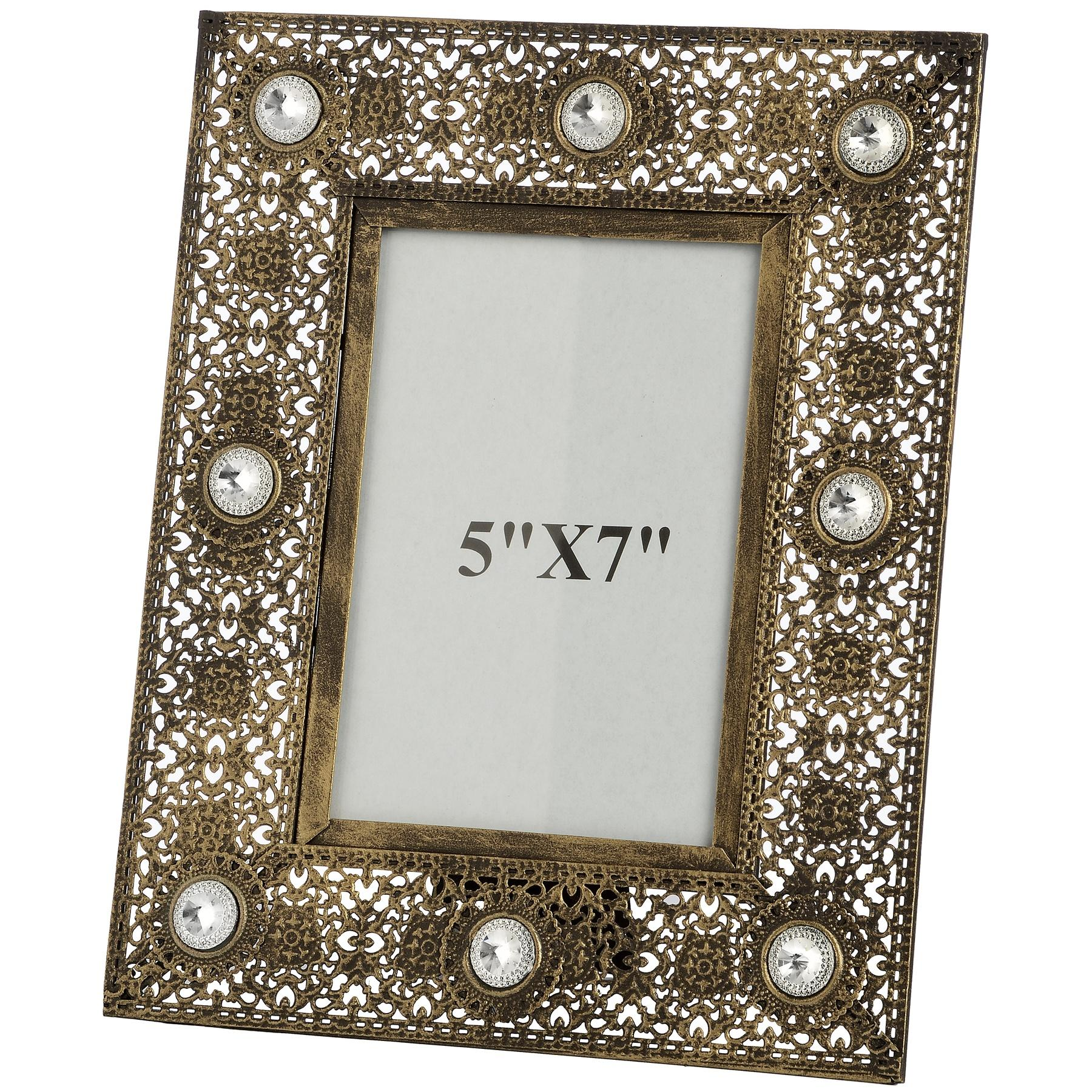 "Antique gold effect photo frame (5"" x 7"")"
