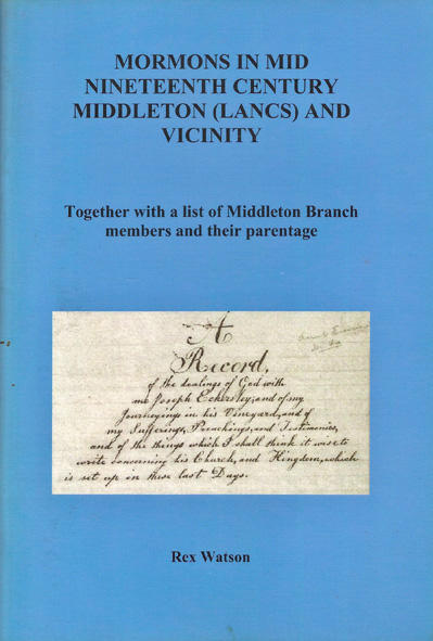 Mormons in Mid-Nineteenth Century Middleton and Vicinity