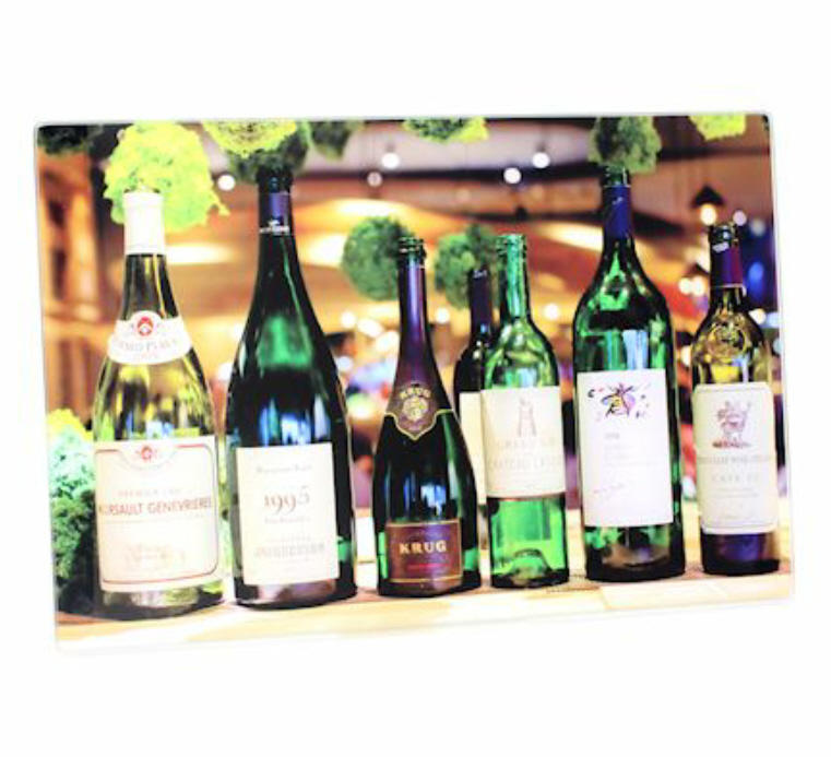 Wine Bottles Small Glass Cutting Board