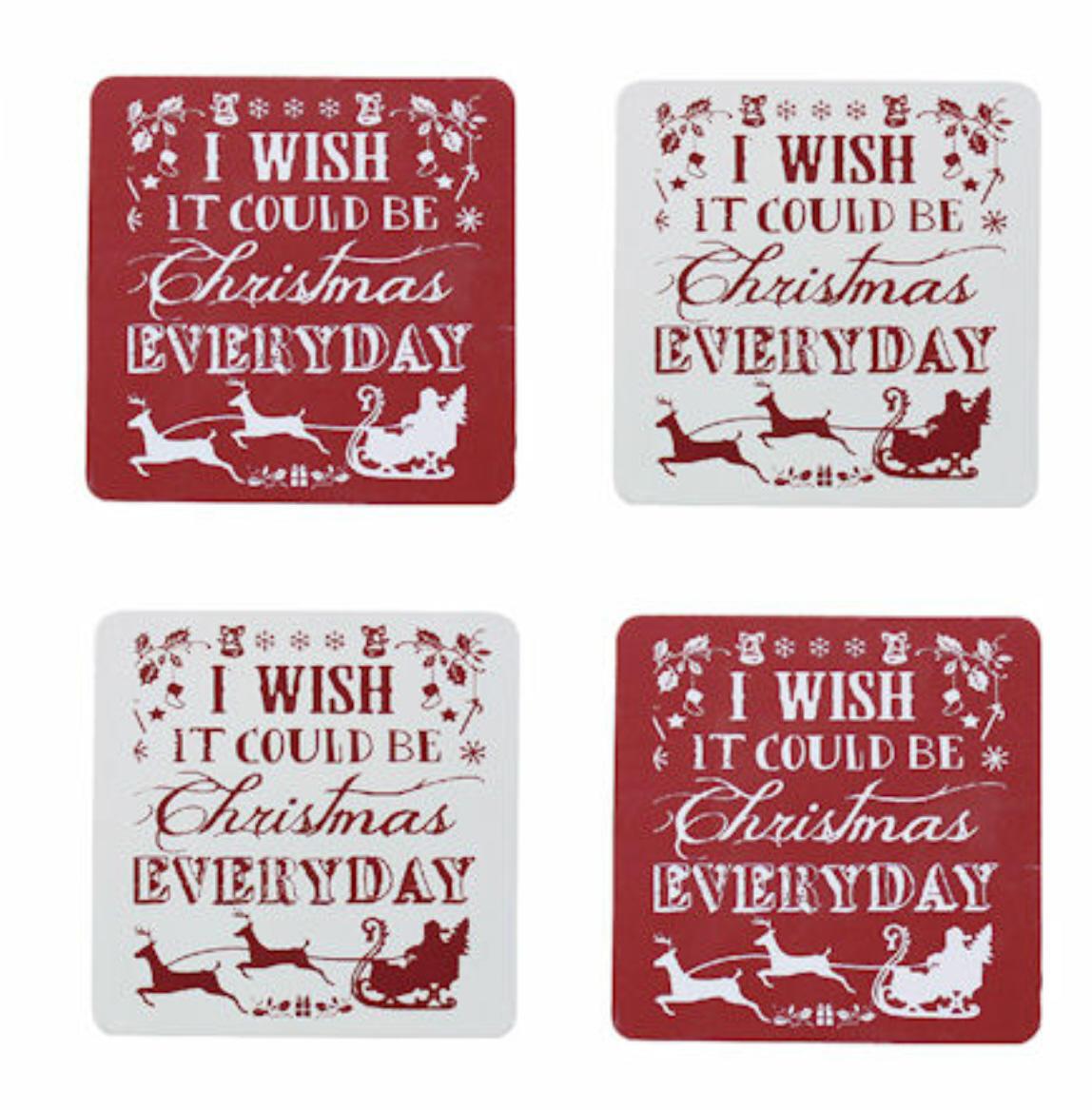 Christmas Set of Four Coasters