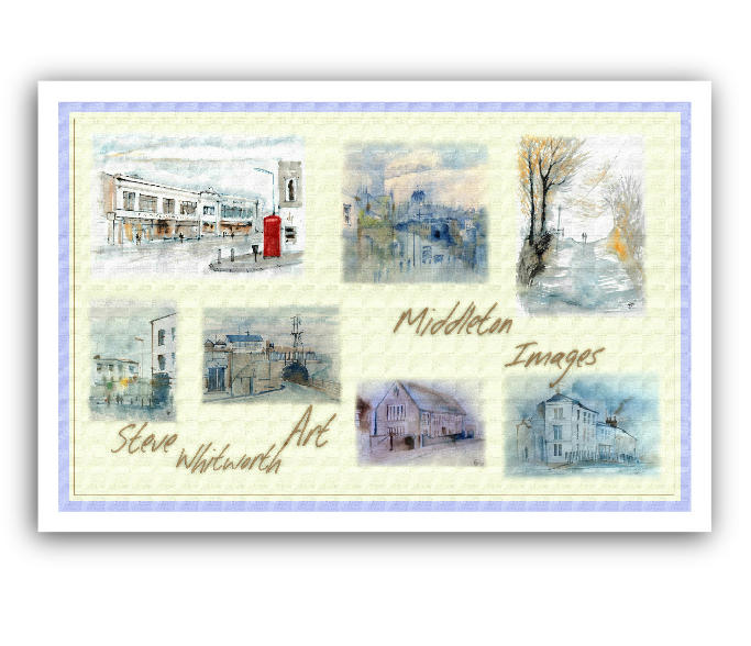 Middleton Images in Watercolour Pack of 2 Tea Towels