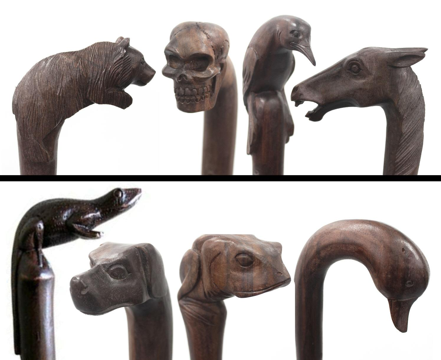 Wooden Carved Walking Sticks