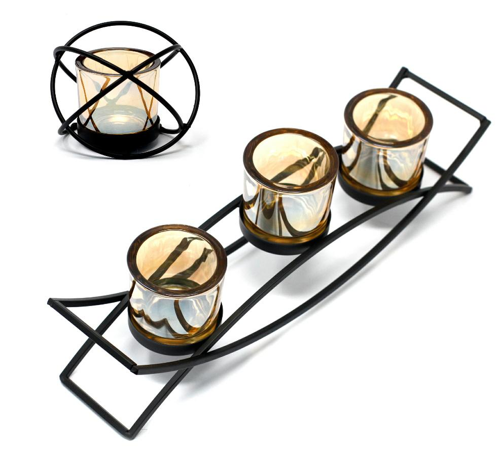 Centrepiece iron votive candle holders