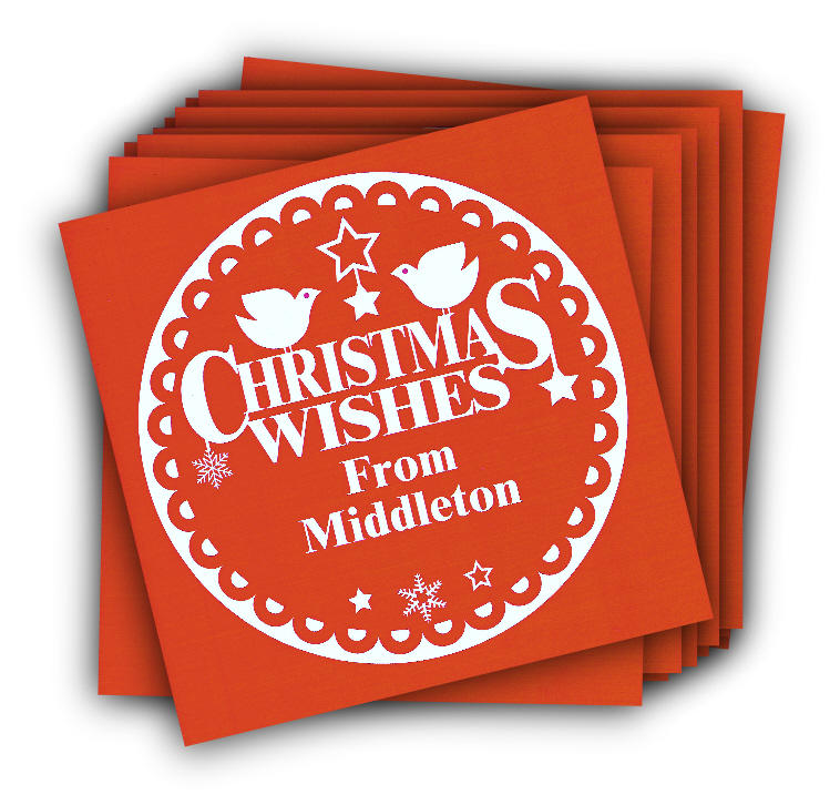 Christmas Wishes From Middleton Card in Pack of Ten