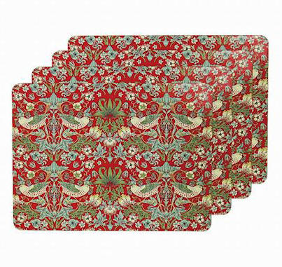 Strawberry Thief Set of Four Placemats