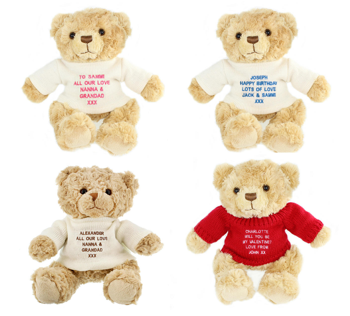 Personalised Teddy Message Bears
