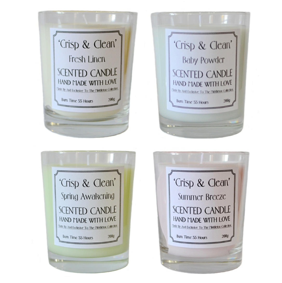 Clean & Crisp scented candles