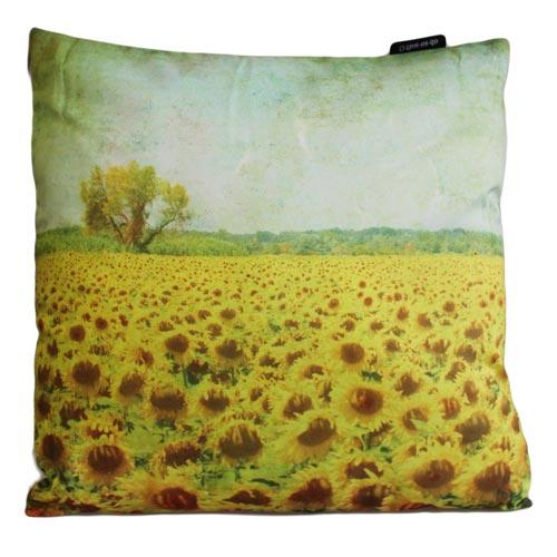 'Sunflower Field' single cushion cover