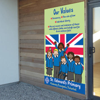 British Values Welcome Sign