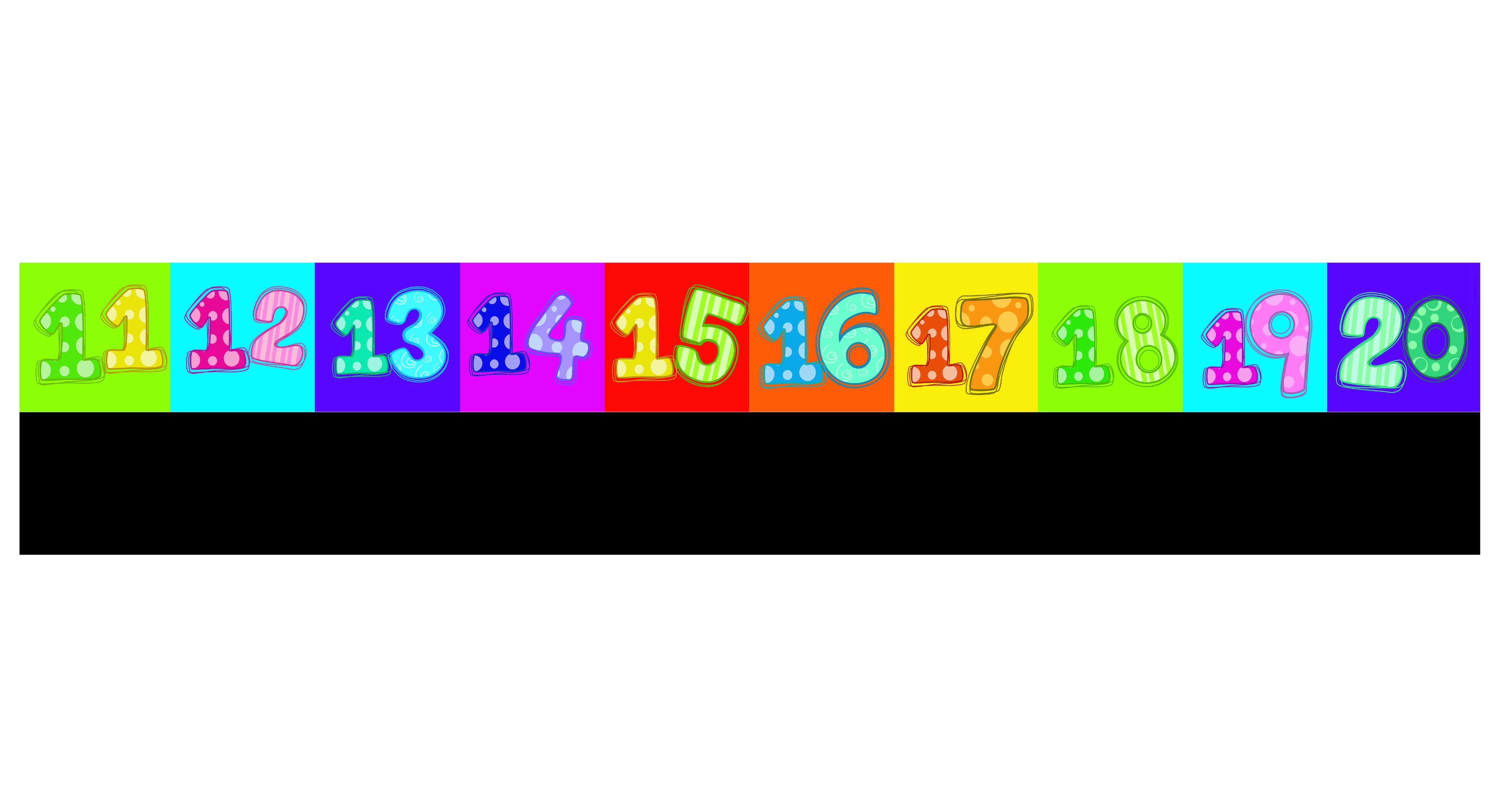 Chalkable Number Line 1 10 Amp 11 20