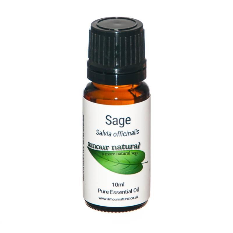 1 x 10 ml bottle of Sage Essential Oil