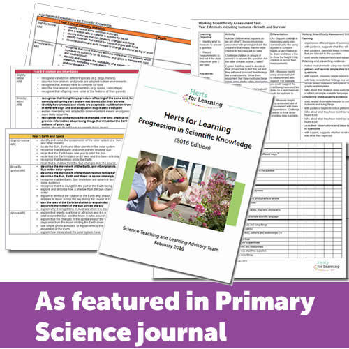Primary Science Package - primary science assessment resources