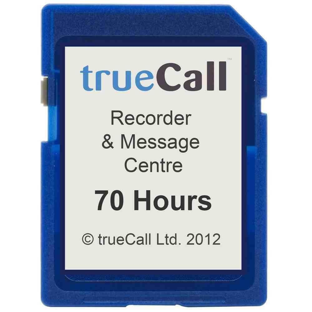 TrueCall Care SD Card - 70 Hours Recording Time