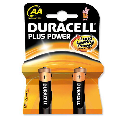 Duracell Plus AA Batteries - 2 Pack