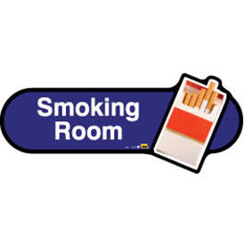 Smoking Room Sign inBlue