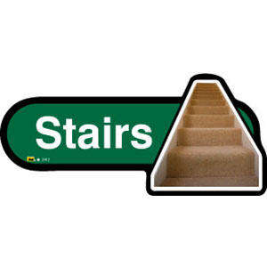 Stairs Sign inGreen