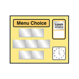 Pictorial Menu Board for Care Homes & NHS in Yellow