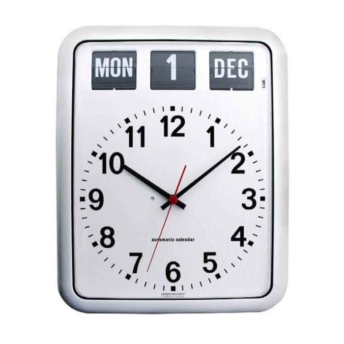Perpetual Calendar Clock in White