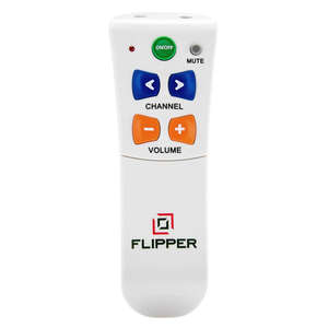 Flipper big button remote control front view