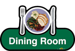 Dining Room Sign inGreen
