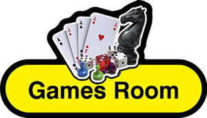Games Room Sign inYellow