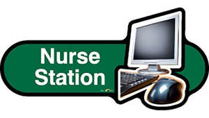 Nurse Station Sign inGreen