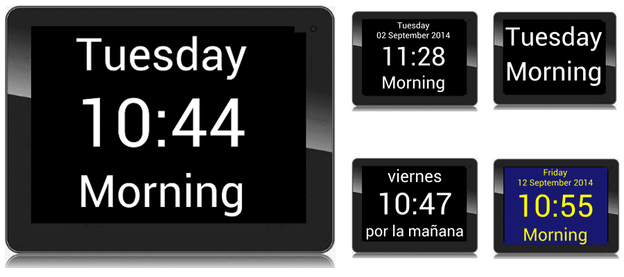 Fully configurable calendar clock