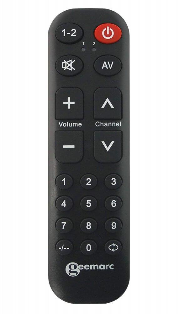 Remote control from front