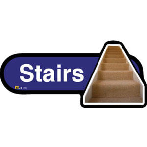 Stairs Sign inBlue