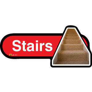 Stairs Sign inRed