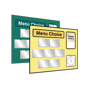 Pictorial Menu Board for Care Homes & NHS