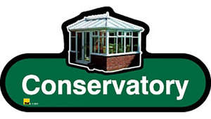 Conservatory Sign inGreen