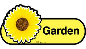Garden Sign in Yellow