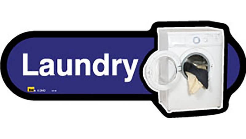 Laundry Room Sign inBlue