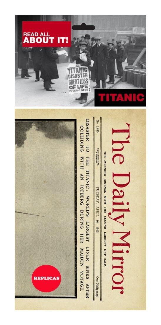 Titanic Replica Newspaper