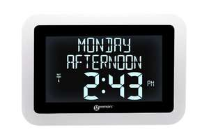VISO 15 Digital Calendar Clock with Automatic Time Change