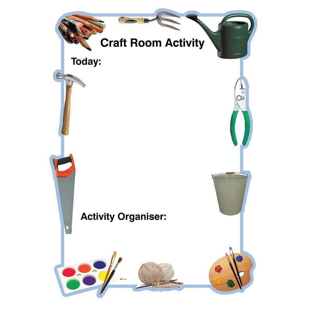 Craft Room Activity Board