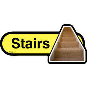 Stairs Sign inYellow