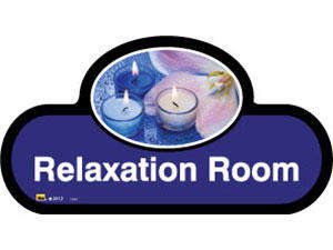 Relaxation Room Sign inBlue