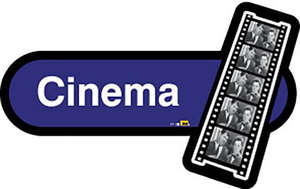 Cinema Sign in Blue
