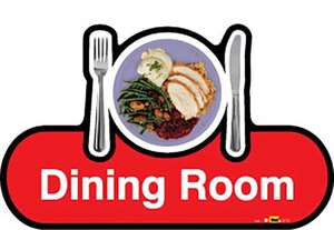 Dining Room Sign inRed